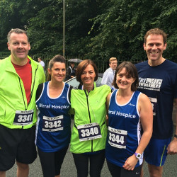 DTM team race Wirral 10K to raise money for Wirral Hospice St John's