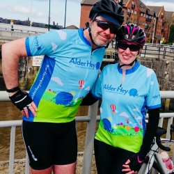 Kate Roberts and Norman McGarry Cycle from London to Amsterdam