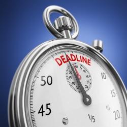 Reminder: April deadlines!