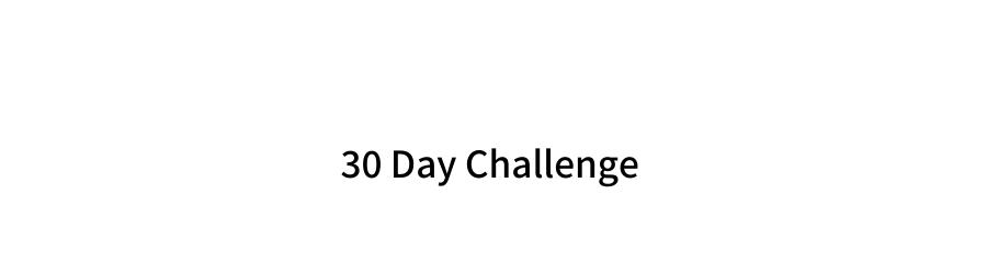 30 Day Challenge Header Image